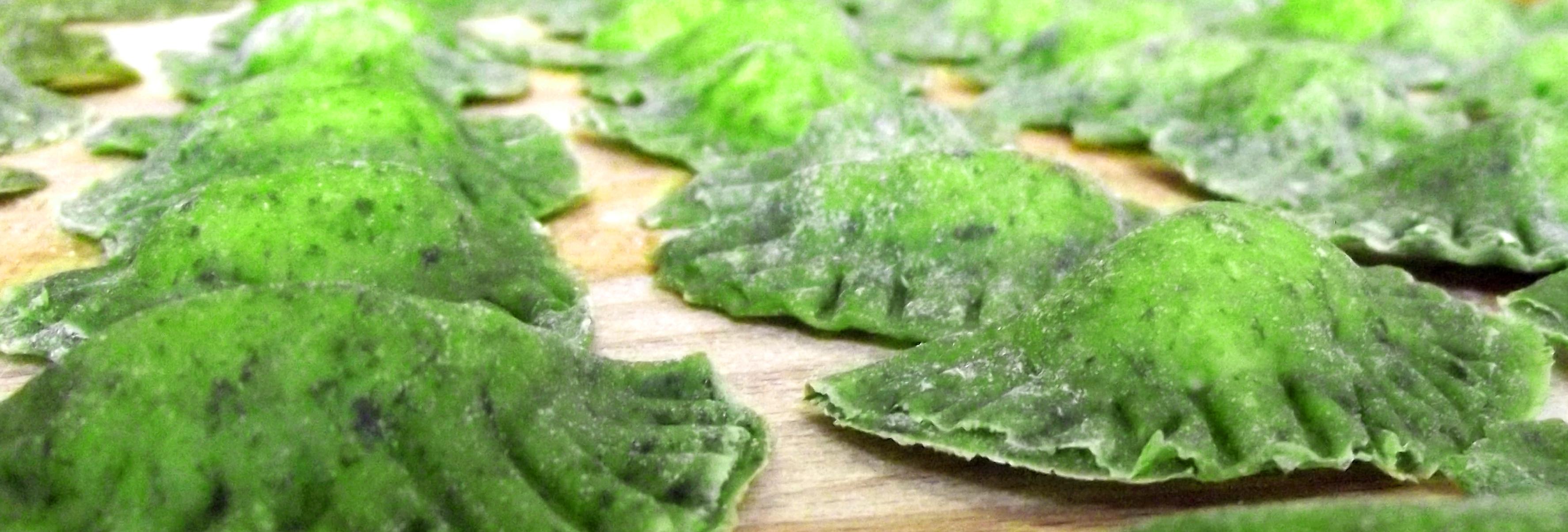 Tortelloni verdi con ricotta e spinaci